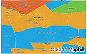 Political Panoramic Map of Hiiran