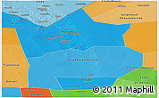 Political Shades Panoramic Map of Hiiran