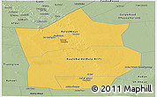 Savanna Style Panoramic Map of Hiiran