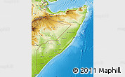 Physical Map of Somalia