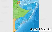 Political Shades Map of Somalia