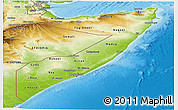Physical Panoramic Map of Somalia