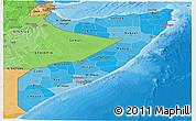 Political Shades Panoramic Map of Somalia