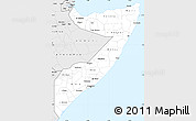 Silver Style Simple Map of Somalia