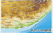 Physical 3D Map of Eastern Cape