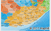 Political Shades 3D Map of Eastern Cape
