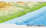 Physical Panoramic Map of CENTANI