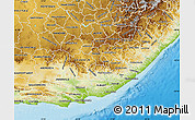 Physical Map of Eastern Cape