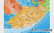 Political Shades Map of Eastern Cape