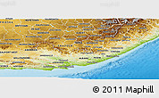 Physical Panoramic Map of Eastern Cape