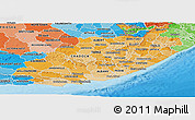 Political Shades Panoramic Map of Eastern Cape