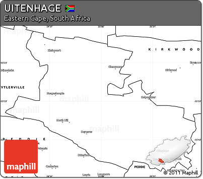 Free Blank Simple Map of UITENHAGE