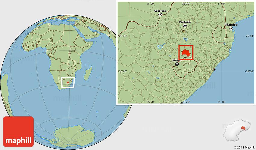 Bethlehem On World Map Savanna Style Location Map of BETHLEHEM