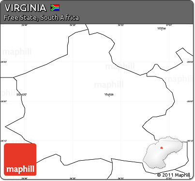 Free Blank Simple Map Of VIRGINIA