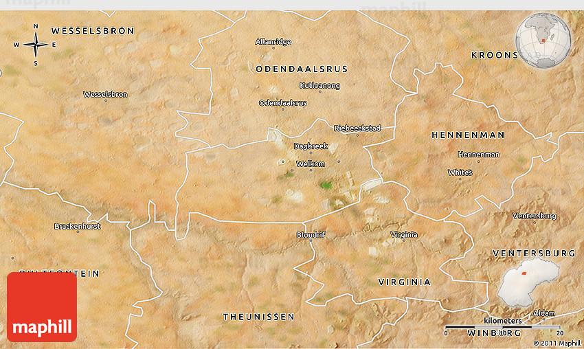 Satellite 3D Map of WELKOM