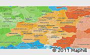 Political Shades Panoramic Map of Guateng