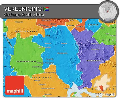 Free Political Map of VEREENIGING