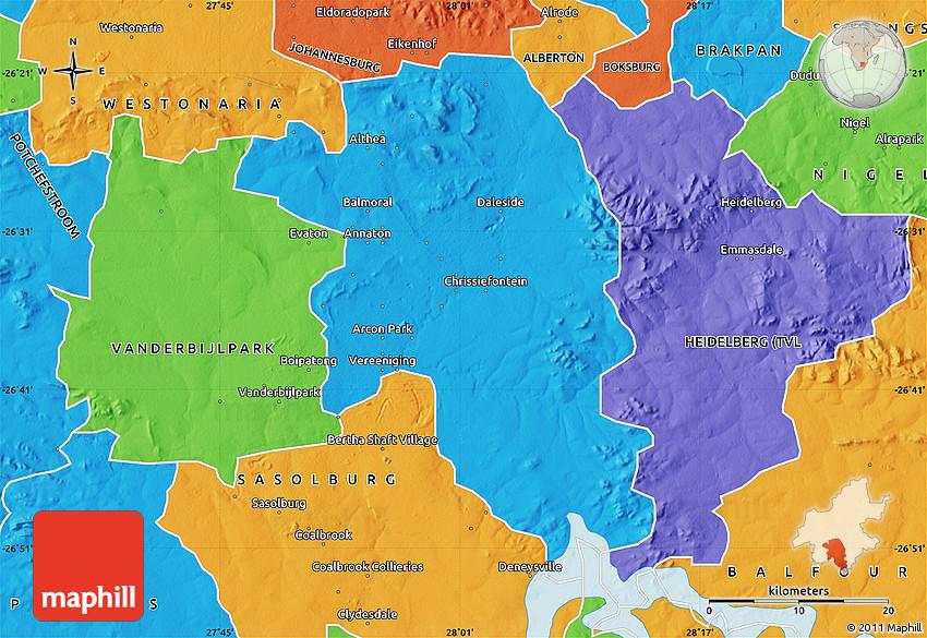Political Map of VEREENIGING