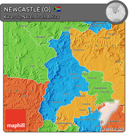 Free Political Map of NEWCASTLE O
