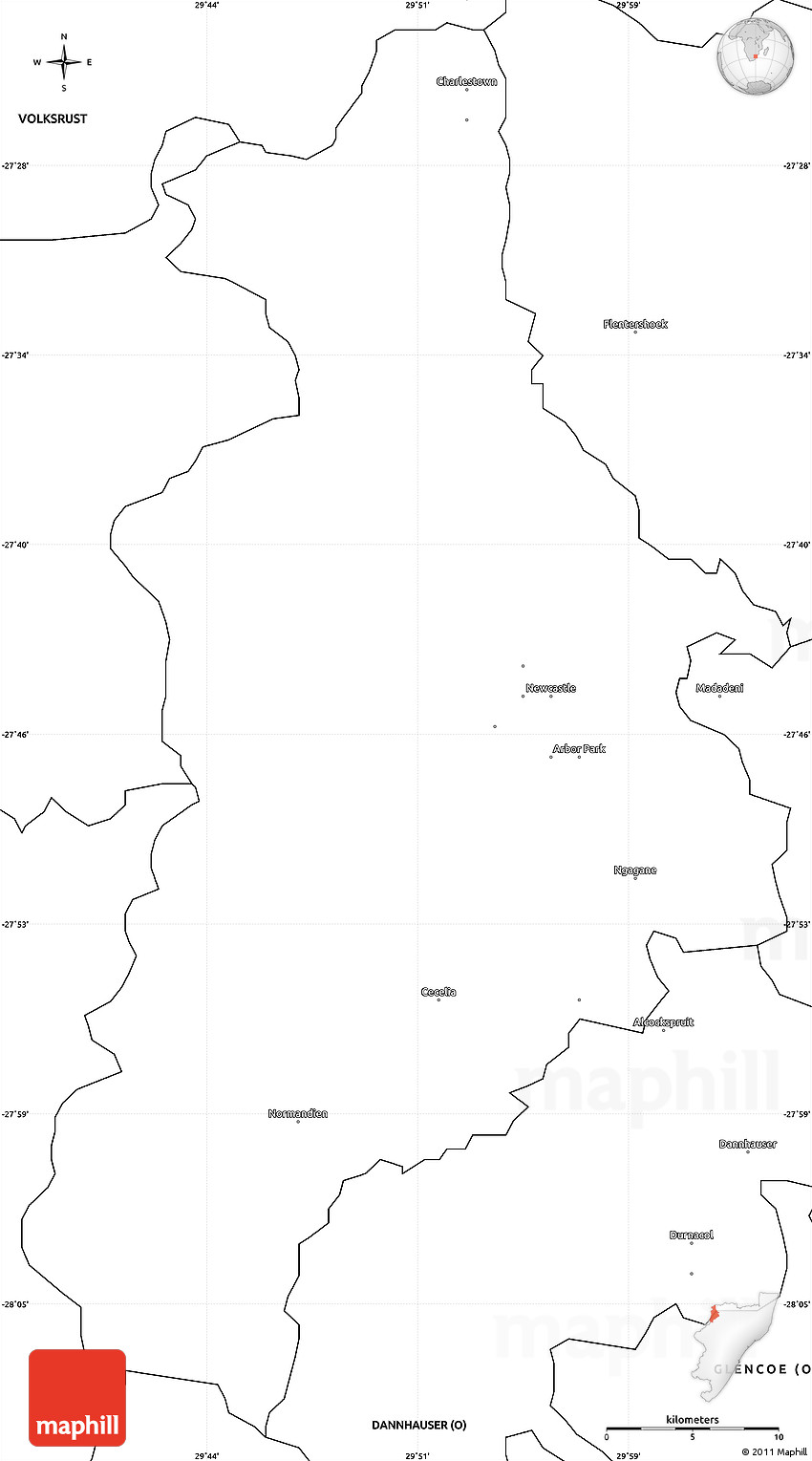 Blank Simple Map of NEWCASTLE O
