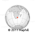 Outline Map of Kwazulu/Natal