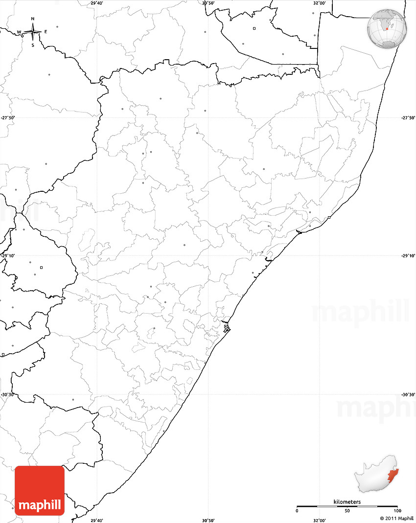 Map Of Africa No Labels.Blank Simple Map Of Kwazulu Natal No Labels