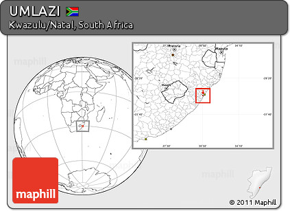 Free Blank Location Map of UMLAZI