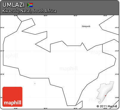 Free Blank Simple Map of UMLAZI