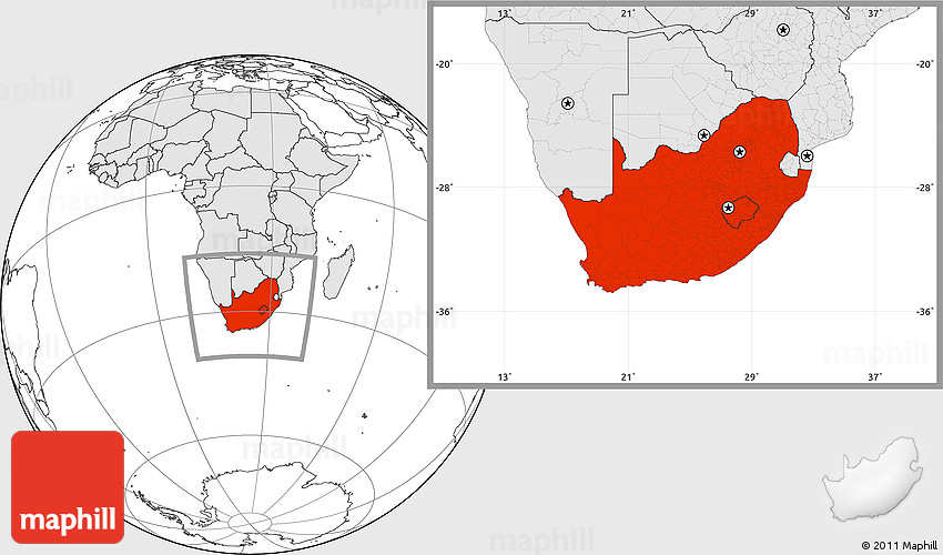 Blank location map of south africa highlighted continent gumiabroncs Choice Image