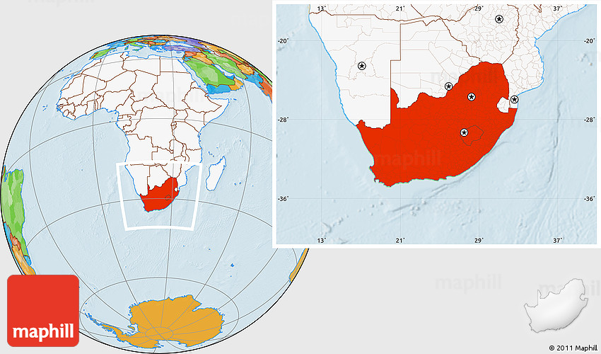 Political location map of south africa highlighted continent westnortheast south gumiabroncs Image collections