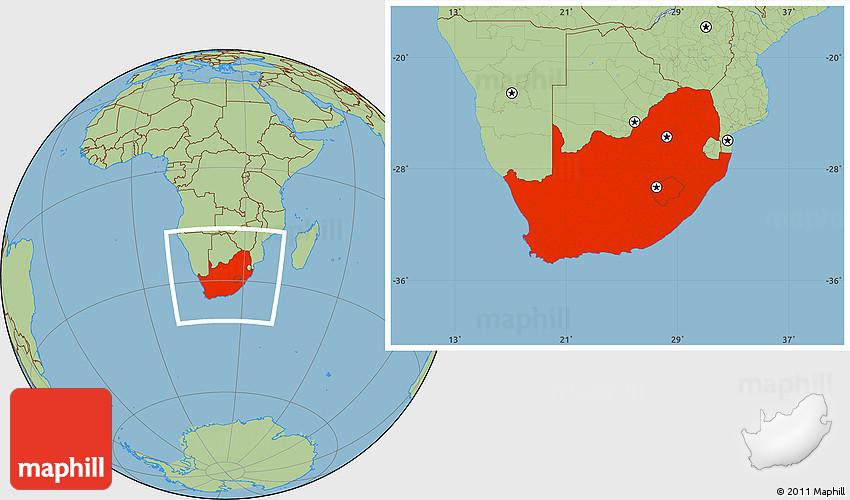 savanna located africa map
