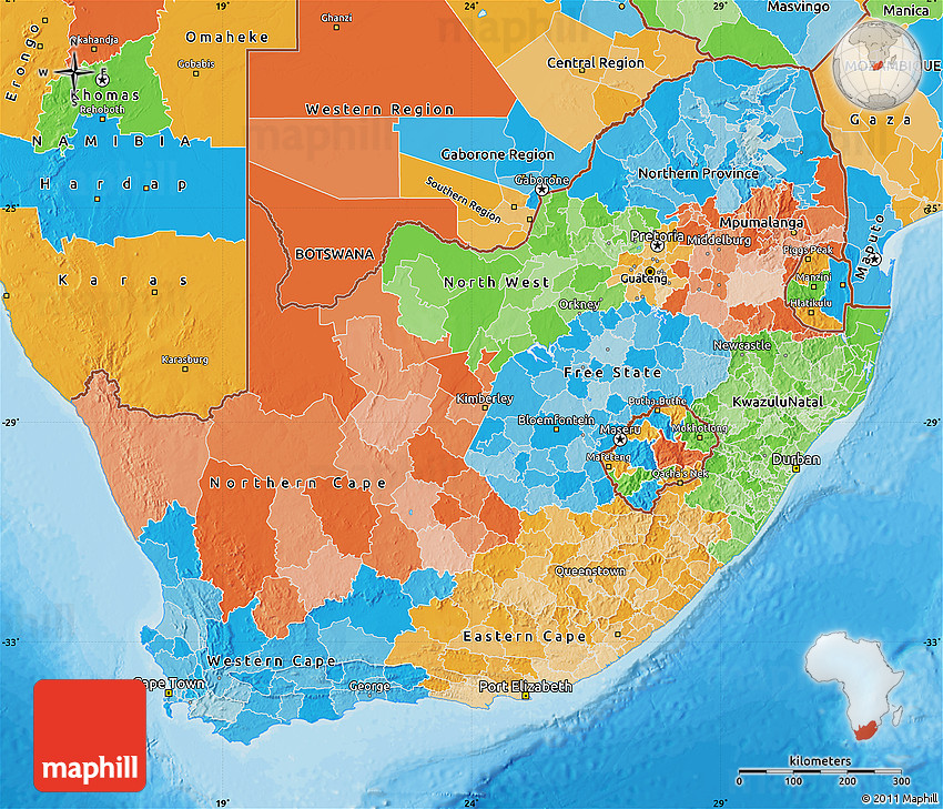 Political Map Of South Africa - South africa political map