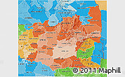 Political Shades 3D Map of Mpumalanga