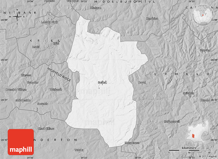 bethal south africa map Gray Map Of Bethal bethal south africa map