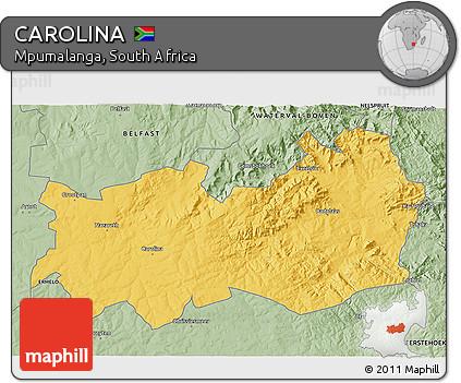 Mpumalanga Map Carolina Style 3d Map of Carolina