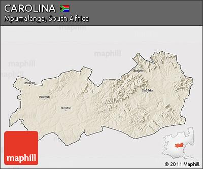 Mpumalanga Map Carolina Relief 3d Map of Carolina