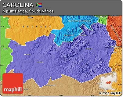 Mpumalanga Map Carolina Political Map of Carolina