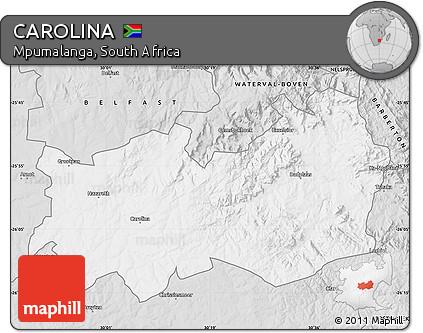 Mpumalanga Map Carolina Style Map of Carolina
