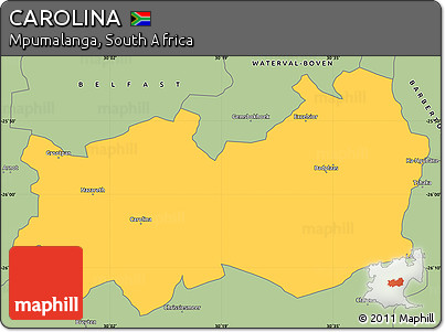 Mpumalanga Map Carolina Simple Map of Carolina