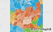 Political Shades Map of Mpumalanga