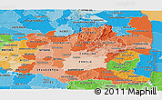 Political Shades Panoramic Map of Mpumalanga