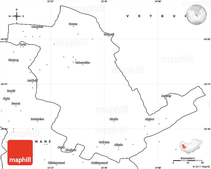 Blank Simple Map of GANYESA