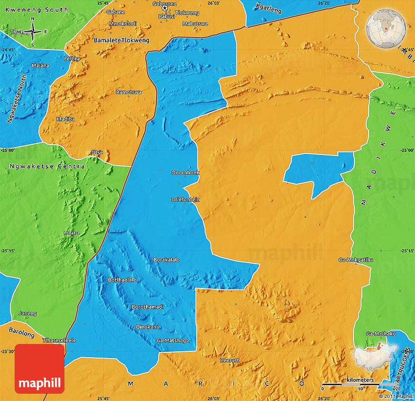 Political Map of LEHURUTSHE