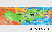 Political Shades Panoramic Map of North West