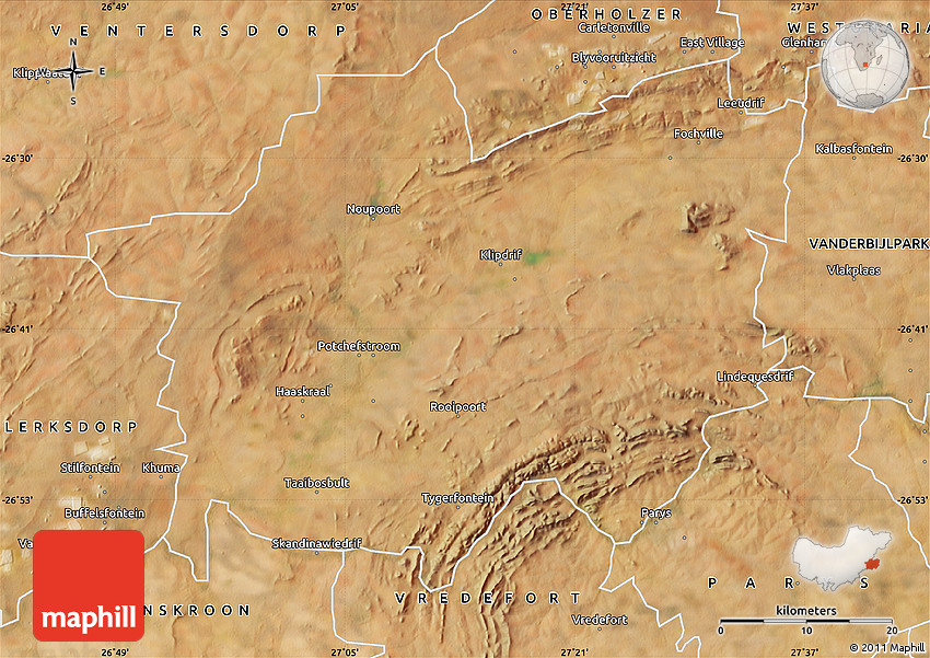 Potchefstroom South Africa  City new picture : Satellite Map of POTCHEFSTROOM