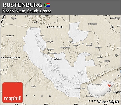 Free Classic Style Map of RUSTENBURG