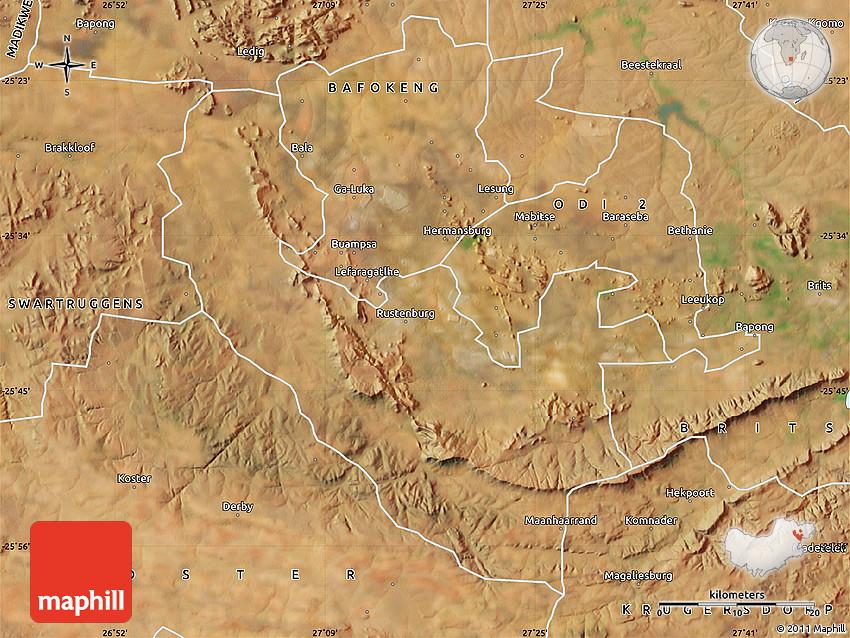 Rustenburg South Africa  city photo : Satellite Map of RUSTENBURG