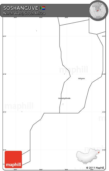 Free Blank Simple Map of SOSHANGUVE