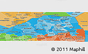 Political Shades Panoramic Map of Northern Province