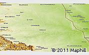 Physical Panoramic Map of PHALABORWA